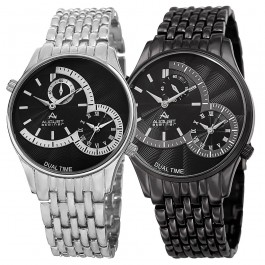 Urbane Men's Dual-Time Bracelet AS8141SSB-BK