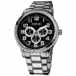 Urbane Men's Coin Edge Bezel Multi-Function Brushed Bracelet AS8060