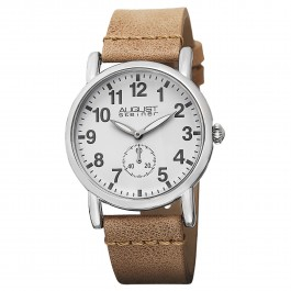 Classique Women's Beveled Bezel Matte Dial Leather Strap AS8110