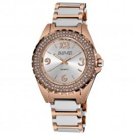 Marquess Women's Crystal Bezel Matte Dial Bracelet AS8036