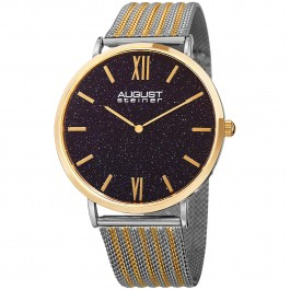 Urbane Men's Slim Case Stone Dial Mesh Bracelet AS8218