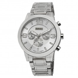 Urbane Men's Polished Bezel Step Dial Multi-Function Bracelet AS8106