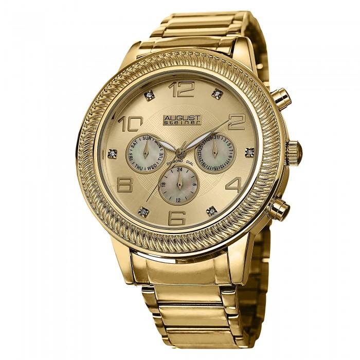 Endeavor Men's Rope Bezel Diamond Markers Bracelet AS8121