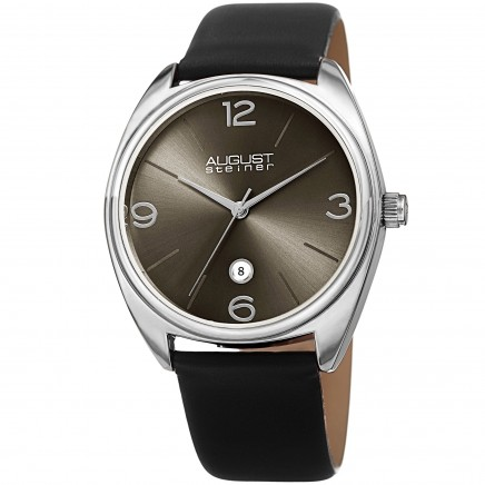 Endeavor Men's Cushion Case Radiant Dial Leather Strap AS8231