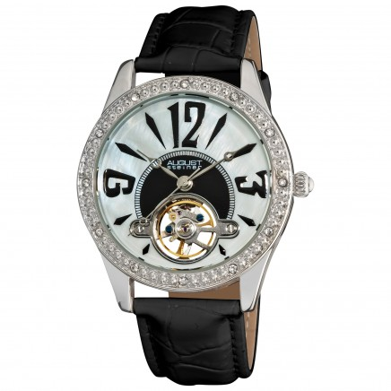 Classique Women's Automatic Open Heart Leather Strap AS8034
