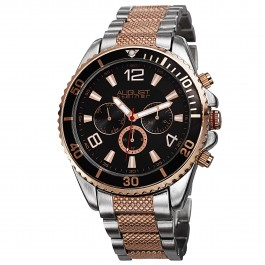 Mercury Men's Coin Edge Bezel Multi-Function Bracelet AS8119