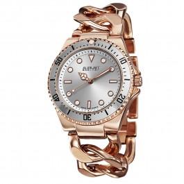 Vida Women's Coin Edge Bezel Radiant Dial Chain Bracelet AS8079