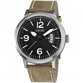 Mercury Men's Matte Dial Date Arc Leather Strap AS8012