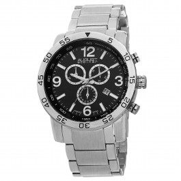 Mercury Men's Brushed Milled Bezel Chronograph Bracelet AS8097