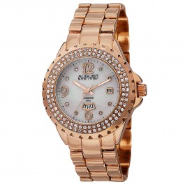 Marquess Women's Crystal Bezel MOP Dial Diamond Markers AS8156