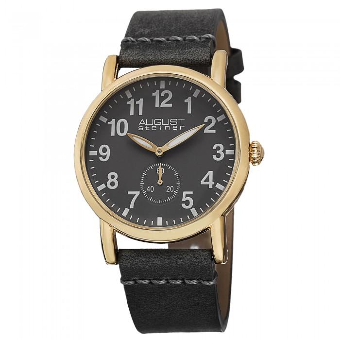 Classique Women's Beveled Bezel Matte Dial Leather Strap AS8110