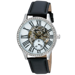 Classique Women's Automatic MOP Skeleton Dial Leather AS8035