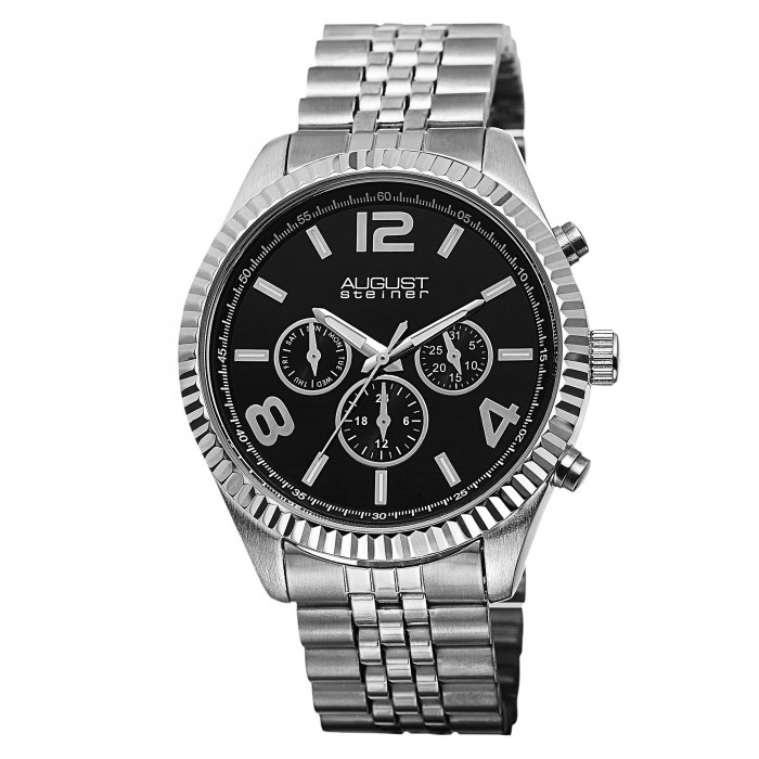 Endeavor Men's Ribbon Bezel Radiant Dial Multi-Function Bracelet AS8096