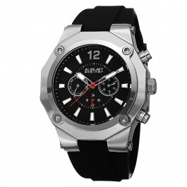 Mercury Men's Decagonal Bezel Multi-Function Rubber Strap AS8080