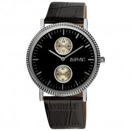 Endeavor Men's Textured Bezel Matte Dial Leather AS8048