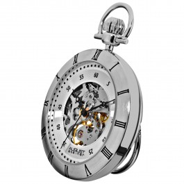 Endeavor Men's Skeleton Dial Pocket Watch AS8017