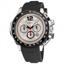 Mercury Men's Matte Dial Chronograph Rubber Strap AS8003