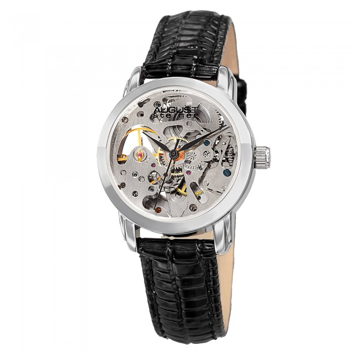 Classique Women's Automatic Skeleton Dial Leather Strap AS8033