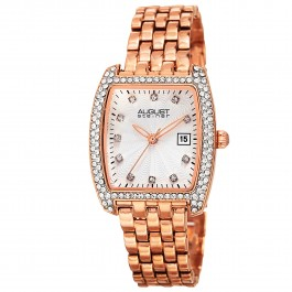 Classique Women's Tonneau Case Crystal Bezel Bracelet AS8180