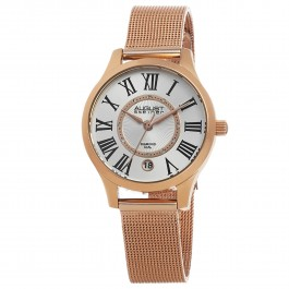 Marquess Women's Sunray Dial Diamond Markers Mesh Bracelet AS8094