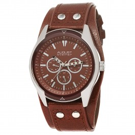 Urbane Men's Sporty Matte Dial Multi-Function Leather Strap AS8073