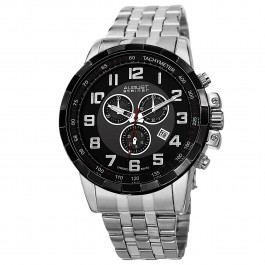 Urbane Men's Gear Bezel Step Dial Chronograph Bracelet AS8118