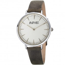 Classique Women's Slim Case Matte Dial Slim Leather Strap AS8187