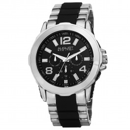 Urbane Men's Rugged Beveled Bezel Multi-Function Bracelet AS8114