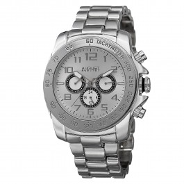 Mercury Men's Milled Bezel Matte Dial Multi-Function Bracelet AS8095
