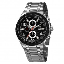 Mercury Men's Sunray Dial Multi-Function Tachymeter Bracelet AS8127