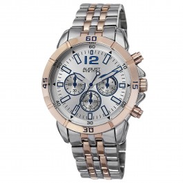Mercury Men's Rugged Milled Bezel Chronograph Bracelet AS8111
