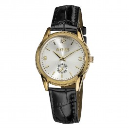Classique Women's Coin Edge Bezel Radiant Dial Leather AS8021