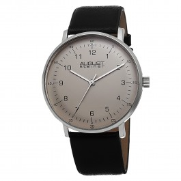 Endeavor Men's Slim Case Matte Dial Leather Strap AS8090
