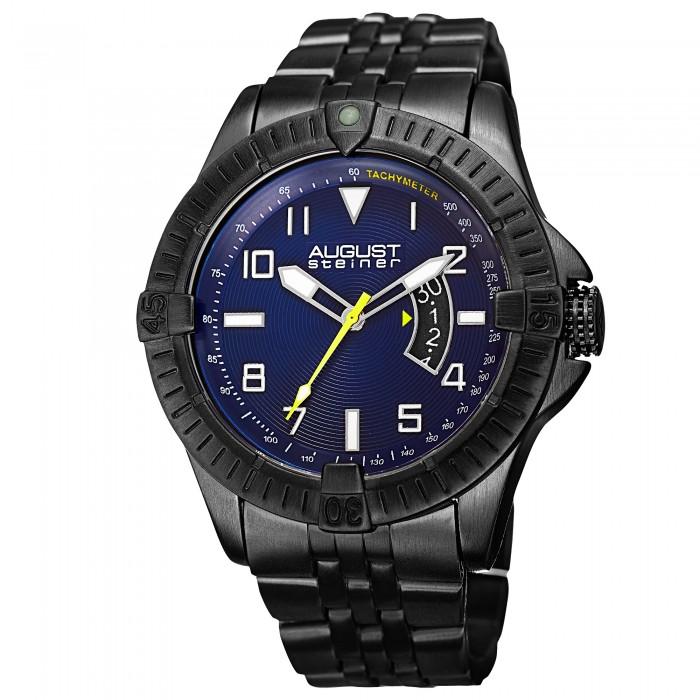 Endeavor Men's Milled Bezel Record Finish Bracelet AS8185