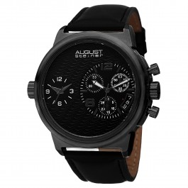 Urbane Men's Wave Textured Dial Dual Movement Leather AS8151