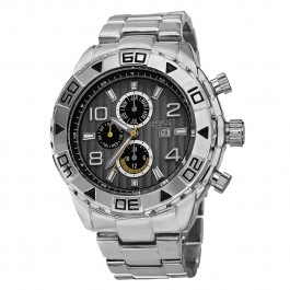 Mercury Men's Rugged Milled Bezel Multi-Function Bracelet AS8130